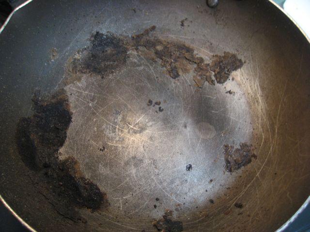 坂越の牡蠣 室津の牡蠣 焼きがきの後のフライパン