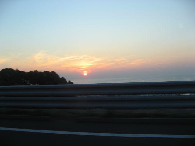 神淡鳴道 室津からの夕陽