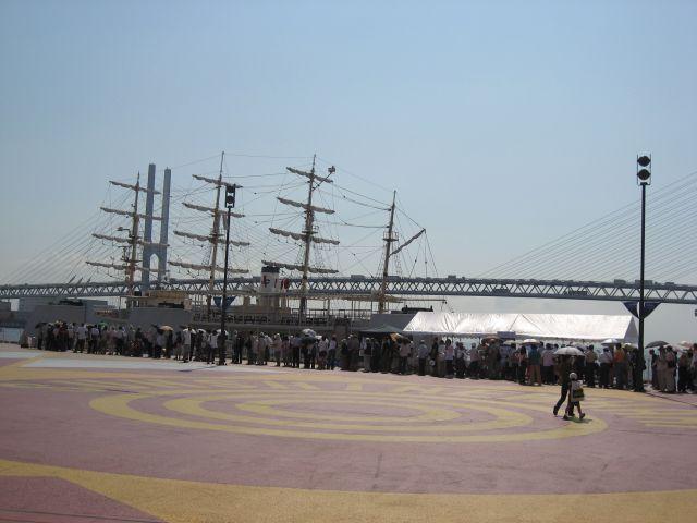 サンシャインワーフ神戸 日本丸への乗船
