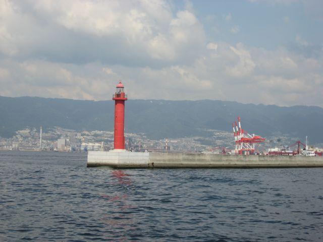 神戸港入口の赤灯