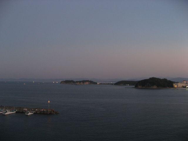 白浜 柳屋からの朝焼けの眺め