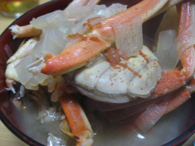 浜坂せこがにのお味噌汁